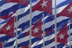 Κουβανικές σημαίες Στοκ φωτογραφία με δικαίωμα ελεύθερης χρήσης