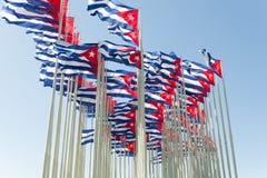 κουβανικές σημαίες στοκ εικόνες
