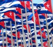 κουβανικές σημαίες Στοκ εικόνα με δικαίωμα ελεύθερης χρήσης