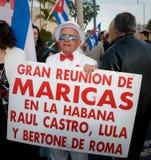 Κουβανική διαμαρτυρία disidents του Μαϊάμι Στοκ Εικόνες