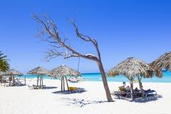 Κουβανική παραλία σε Varadero Στοκ εικόνα με δικαίωμα ελεύθερης χρήσης