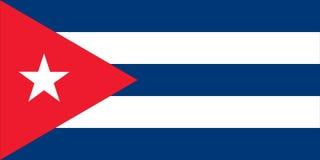 κουβανική σημαία της Κού&beta Στοκ Εικόνες