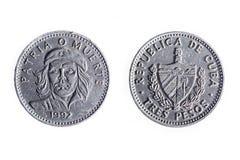 Κουβανικό νόμισμα τριών πέσων στοκ εικόνες