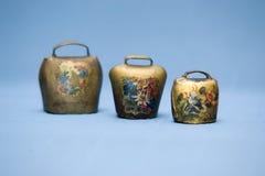 κουδούνια παλαιά χρωματισμένα τρία Στοκ Φωτογραφία