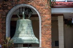 Κουδούνι στον καθεδρικό ναό του San Sebastian, πόλη Bacolod Στοκ Εικόνα