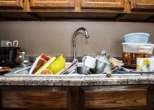 κουζίνα ακατάστατη Στοκ φωτογραφία με δικαίωμα ελεύθερης χρήσης