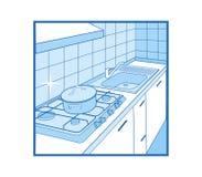 κουζίνα εικονιδίων Στοκ Εικόνες