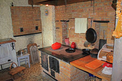 Κουζίνα εξοχικών σπιτιών χώρας Στοκ Εικόνες