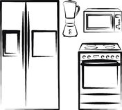κουζίνα ηλεκτρονικής Στοκ φωτογραφίες με δικαίωμα ελεύθερης χρήσης