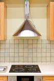 κουζίνα κουκουλών σύγχρονη Στοκ Εικόνα