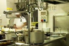 κουζίνα ξενοδοχείων Στοκ φωτογραφία με δικαίωμα ελεύθερης χρήσης
