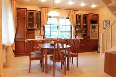 κουζίνα ξύλινη Στοκ φωτογραφίες με δικαίωμα ελεύθερης χρήσης