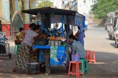 Κουζίνα οδών στο Μιανμάρ Στοκ φωτογραφία με δικαίωμα ελεύθερης χρήσης