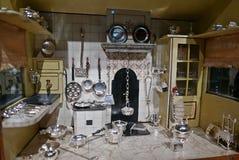 Κουζίνα σπιτιών κουκλών Στοκ Εικόνες