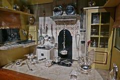 Κουζίνα σπιτιών κουκλών Στοκ Φωτογραφίες