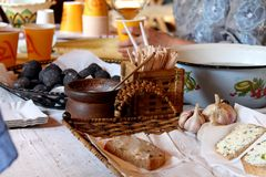 Κουζίνα στην Ουκρανία Στοκ φωτογραφία με δικαίωμα ελεύθερης χρήσης