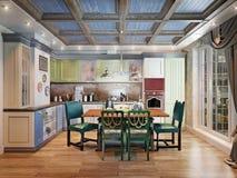 Κουζίνα στο ύφος χωρών Στοκ Εικόνες