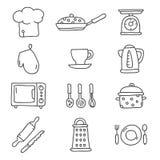 κουζίνα τα εύκολα εικονίδια ανασκόπησης αντικαθιστούν το διαφανές διάνυσμα σκιών Στοκ φωτογραφία με δικαίωμα ελεύθερης χρήσης