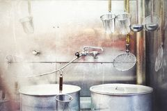 Κουζίνα του εστιατορίου Ramen Στοκ φωτογραφίες με δικαίωμα ελεύθερης χρήσης
