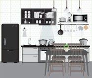 κουζίνα απεικόνιση αποθεμάτων