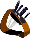 κουζίνα knifes Ελεύθερη απεικόνιση δικαιώματος