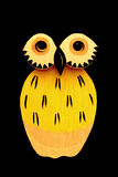 κουκουβάγια κίτρινη Στοκ εικόνες με δικαίωμα ελεύθερης χρήσης