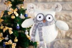 Κουκουβάγια παιχνιδιών Χριστουγέννων στοκ εικόνα