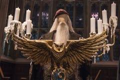 Κουκουβάγια Lecturn στη μεγάλη αίθουσα σε Hogwarts Στοκ εικόνα με δικαίωμα ελεύθερης χρήσης