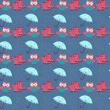Κουκουβάγιες και βροχή απεικόνιση αποθεμάτων