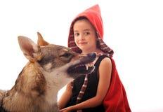 κουκούλα λίγη κόκκινη ο&de Στοκ Φωτογραφία