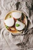 Κουλούρια bao Gua με το χοιρινό κρέας Στοκ εικόνα με δικαίωμα ελεύθερης χρήσης