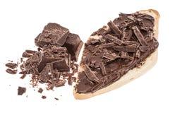 Κουλούρι με Creme σοκολάτας που απομονώνεται στο λευκό Στοκ φωτογραφίες με δικαίωμα ελεύθερης χρήσης