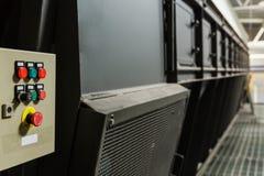 Κουμπί έκτακτης ανάγκης στο μεταφορέα Στοκ εικόνα με δικαίωμα ελεύθερης χρήσης