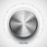 Κουμπί έντασης του ήχου τεχνολογίας με τη σύσταση μετάλλων Στοκ Εικόνες