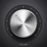 Κουμπί έντασης του ήχου τεχνολογίας με τη σύσταση μετάλλων ελεύθερη απεικόνιση δικαιώματος