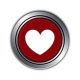 Κουμπί αγάπης, ευτυχής ημέρα βαλεντίνων Στοκ Εικόνα