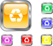 κουμπί ανακύκλωσης Στοκ Φωτογραφίες