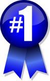 κουμπί αριθμός ένα κορδέλ&lambd Στοκ εικόνες με δικαίωμα ελεύθερης χρήσης