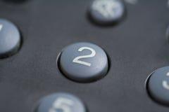 κουμπί αριθμός δύο Στοκ Εικόνες