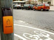 Κουμπί για τους φωτεινούς σηματοδότες στοκ φωτογραφία με δικαίωμα ελεύθερης χρήσης