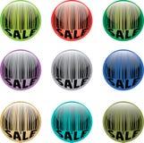 κουμπί γραμμωτών κωδίκων Στοκ Εικόνες