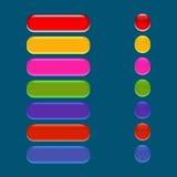 Κουμπί γυαλιού διανυσματική απεικόνιση