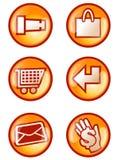 κουμπί Διαδίκτυο Στοκ Φωτογραφία