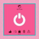 Κουμπί δύναμης - ημίτονο λογότυπο Στοκ Εικόνες