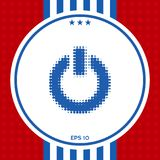 Κουμπί δύναμης - ημίτονο λογότυπο Στοκ φωτογραφία με δικαίωμα ελεύθερης χρήσης