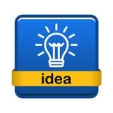 Κουμπί εικονιδίων λαμπών φωτός στοκ εικόνα με δικαίωμα ελεύθερης χρήσης