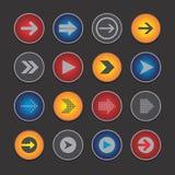 Κουμπί εικονιδίων βελών απεικόνιση αποθεμάτων