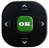 κουμπί εντάξει Στοκ φωτογραφίες με δικαίωμα ελεύθερης χρήσης