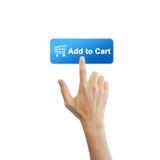 Κουμπί ηλεκτρονικού εμπορίου Στοκ φωτογραφία με δικαίωμα ελεύθερης χρήσης