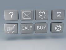 Κουμπί Ιστού Στοκ φωτογραφία με δικαίωμα ελεύθερης χρήσης